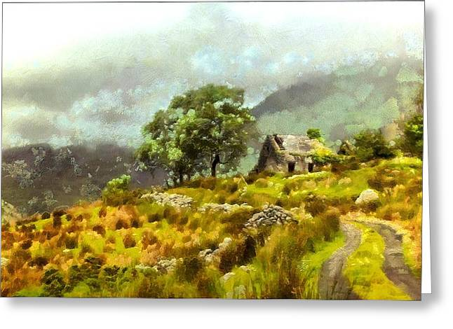 Traditional Ireland Greeting Card by Mario Carini