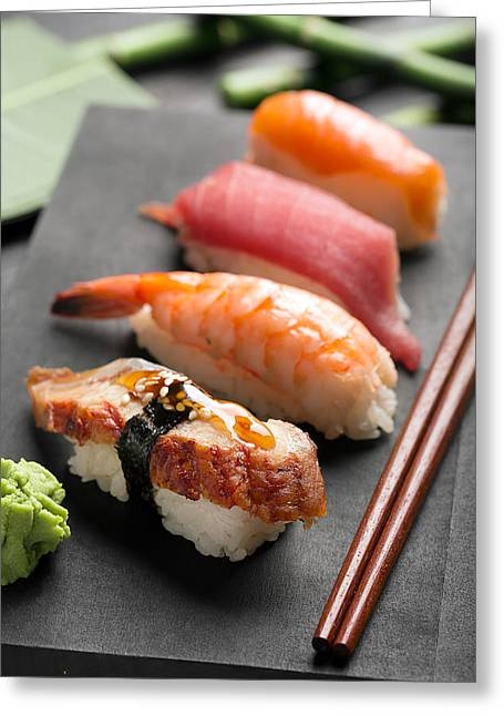 Traditional Japanese Sushi 2 Greeting Card by Vadim Goodwill