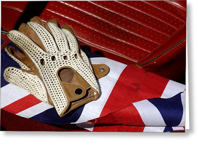 Traditional String Back Driving Gloves Greeting Card by Norman Pogson