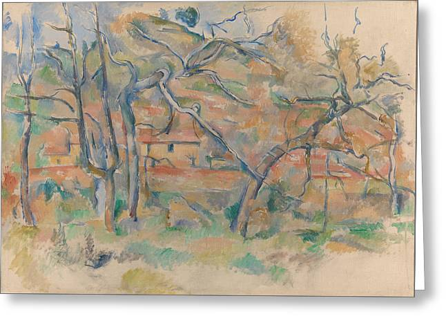 Traer Og Hus, Provence Ca. 1885 Greeting Card by Paul Cezanne