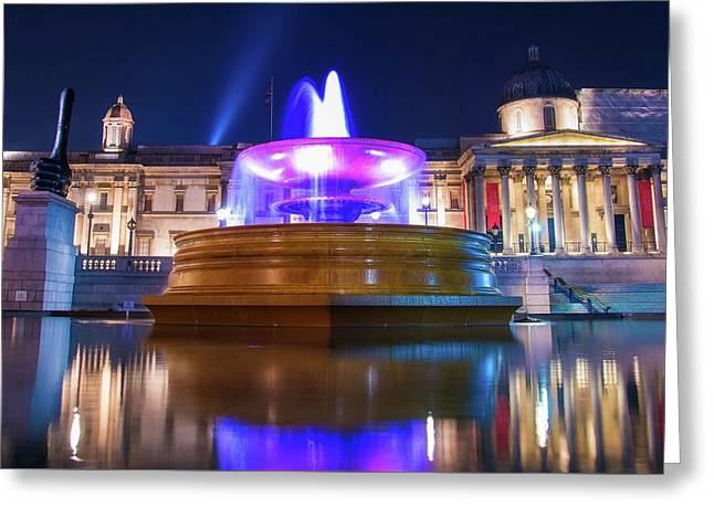 Trafalgar Square Greeting Card by Skitterphoto