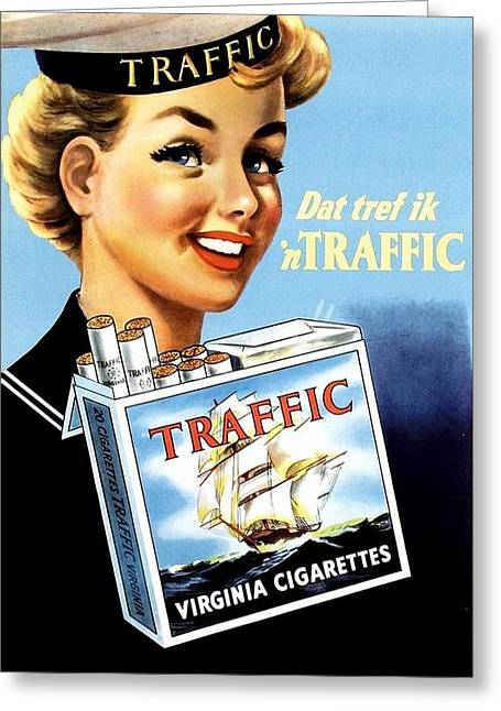 Traffic Cigarette Greeting Card
