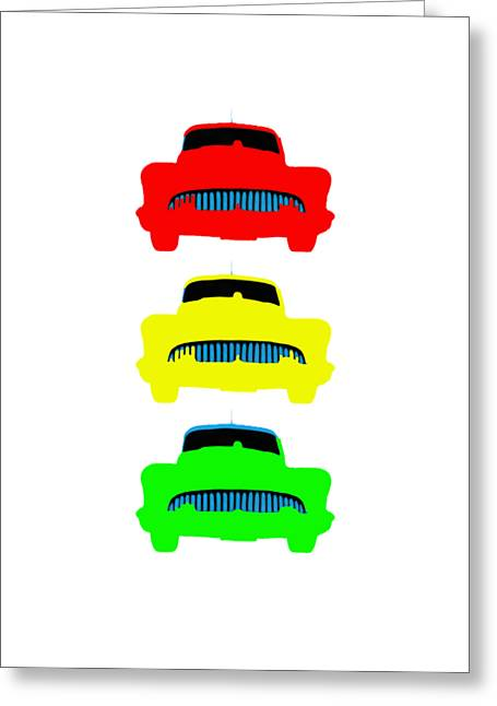 Traffic Light Cars Phone Case Greeting Card by Edward Fielding