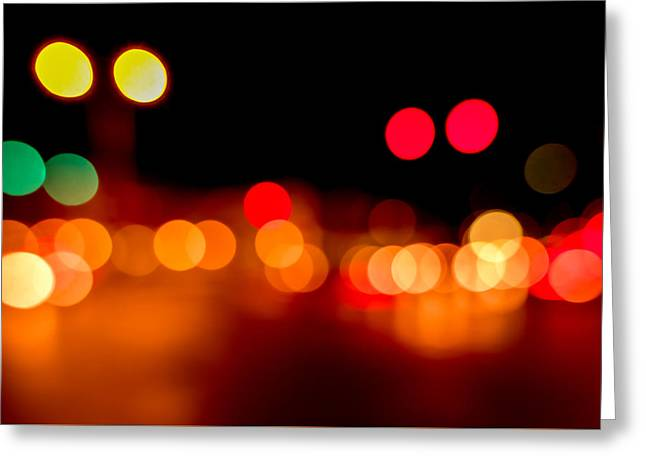 Traffic Lights Number 5 Greeting Card by Steve Gadomski
