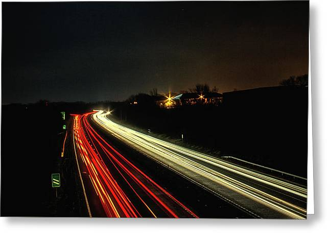 Traffic Greeting Card by Martin Newman