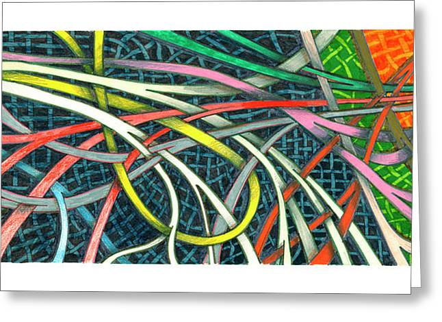 Abstract Images Mixed Media Greeting Cards - Traffic Pattern Greeting Card by Jack Pumphrey