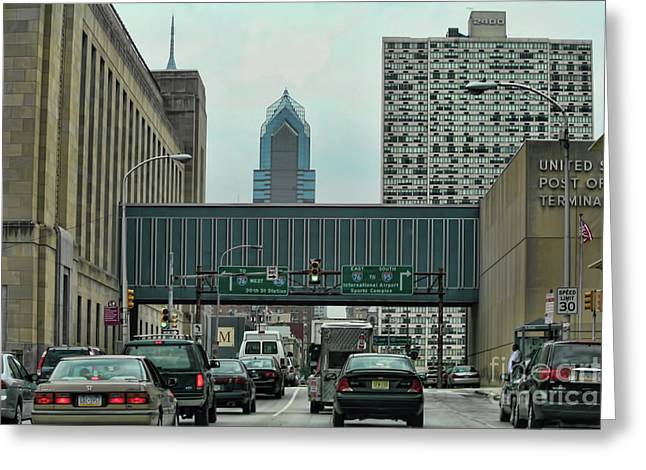 Traffic Philadelphia  Greeting Card
