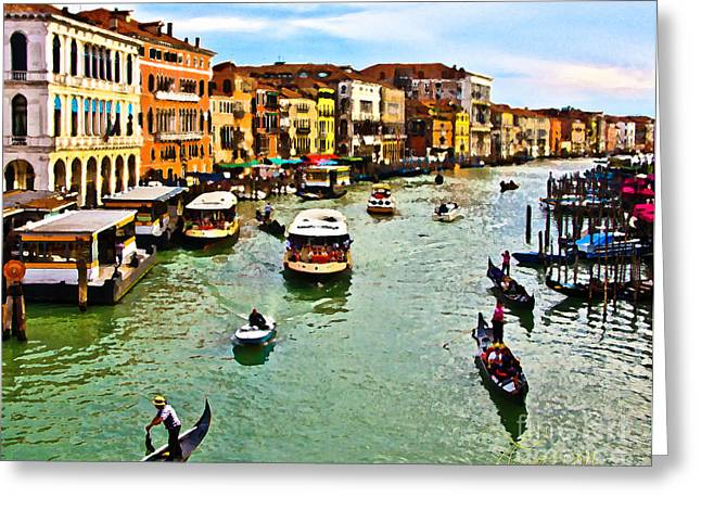 Traghetto, Vaporetto, Gondola  Greeting Card