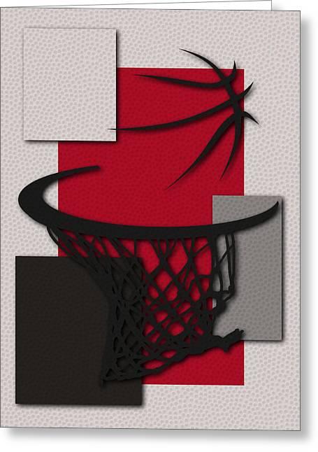 Trail Blazers Hoop Greeting Card by Joe Hamilton