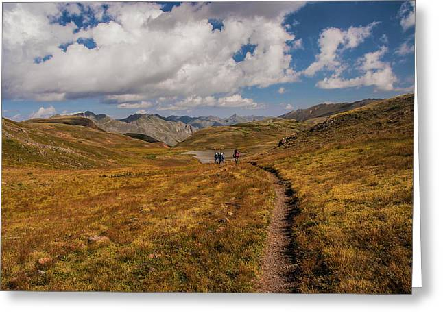 Trail Dancing Greeting Card