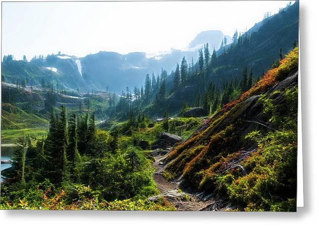 Trail In Mountains Greeting Card