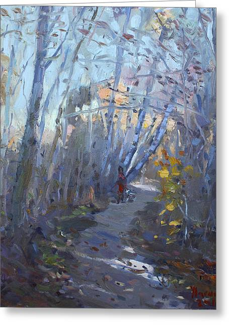 Trail In Silver Creek Valley Greeting Card by Ylli Haruni