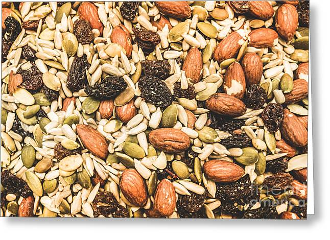 Trail Mix Background Greeting Card
