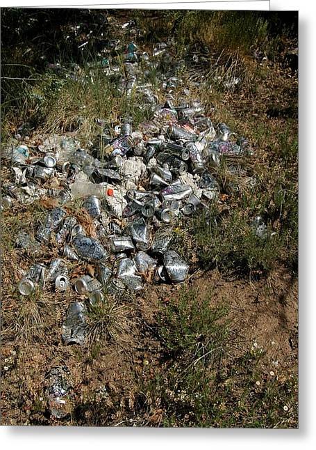 Trail Of Empties Greeting Card by Kirk Griffith