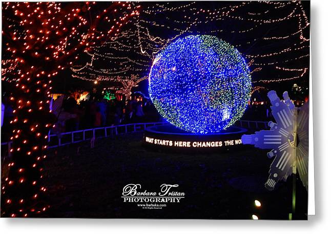 Trail Of Lights World #7359 Greeting Card