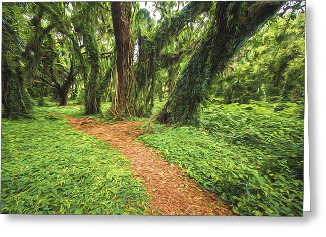 Trail Of Trees IIi Greeting Card