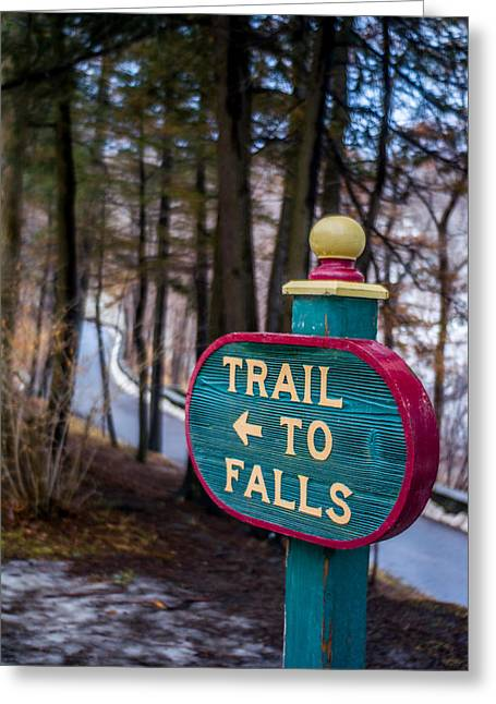 Trail To Falls Greeting Card