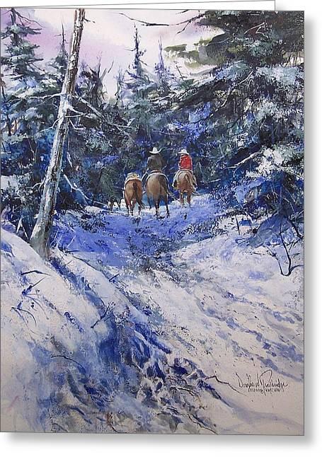 Trail To Winter Camp Greeting Card by Douglas Trowbridge