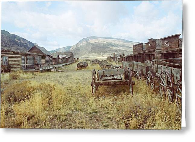 Trail Town Wyoming Greeting Card by Brent Easley