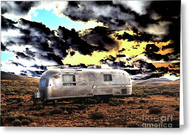 Greeting Card featuring the photograph Trailer by Jim and Emily Bush