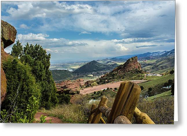 Trails At Red Rocks Greeting Card
