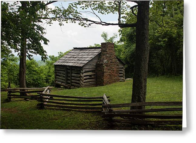 Trails Cabin At Smart View Loop On The Blue Ridge Parlway II Greeting Card by Suzanne Gaff