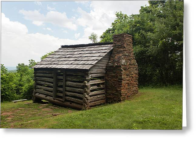 Trails Cabin At Smart View Loop On The Blue Ridge Parlway IIi Greeting Card by Suzanne Gaff