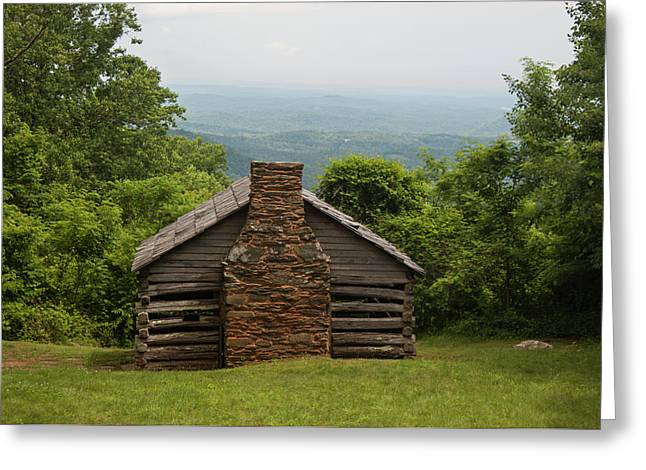 Trails Cabin At Smart View Loop On The Blue Ridge Parlway Greeting Card by Suzanne Gaff