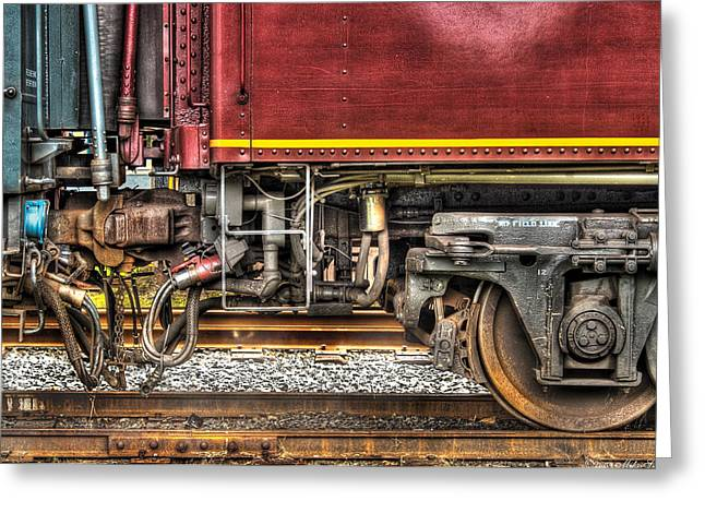 Train - Car - Joined In A Union Greeting Card