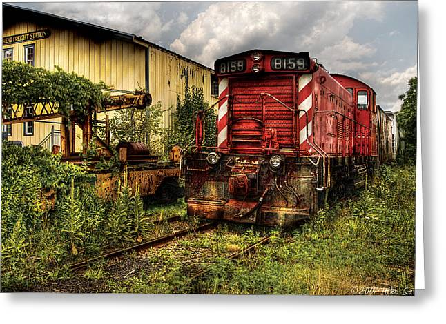 Train - Engine - 8159 Parked Greeting Card