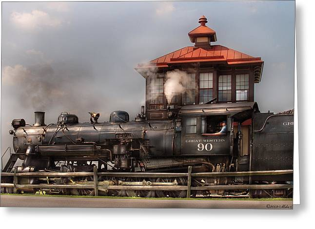 Train - Engine -the Great Western 90 Greeting Card