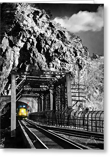Harpers Ferry Greeting Cards - Train at Harpers Ferry Greeting Card by Williams-Cairns Photography LLC