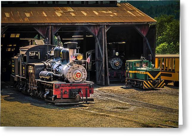 Train Barn Roaring Camp Greeting Card by Garry Gay
