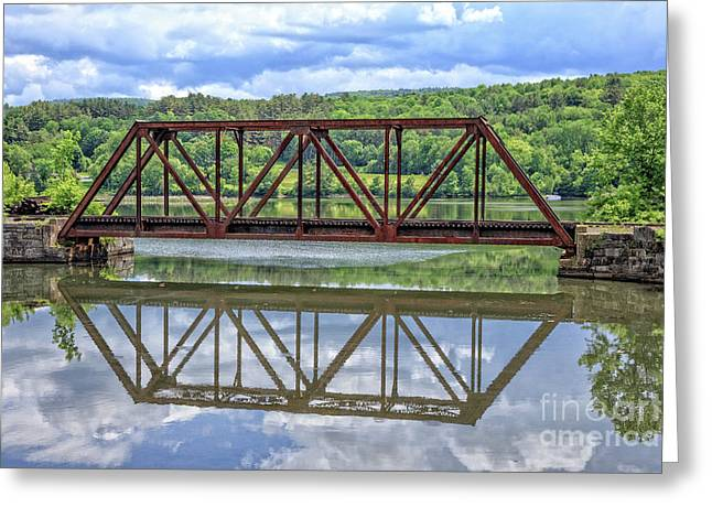 Train Bridge Thetford Vermont Greeting Card