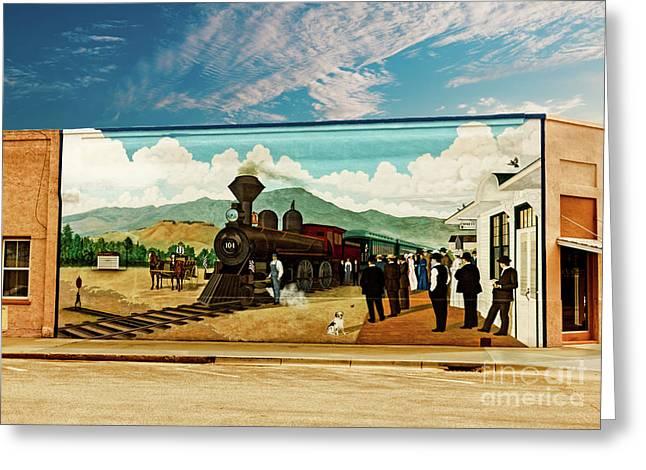 Train Depot Mural  Greeting Card by Robert Bales