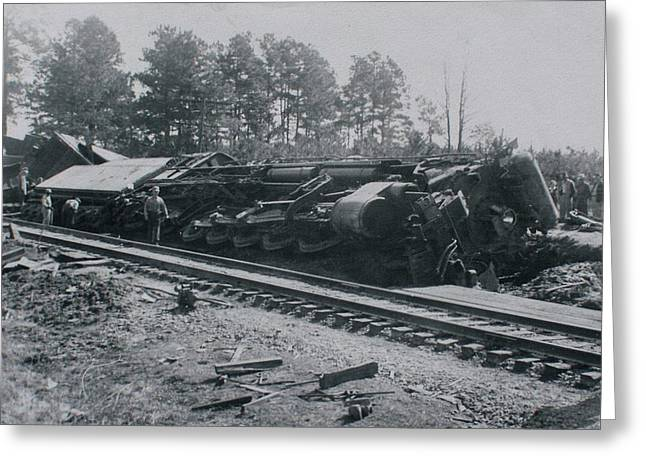 Train Derailment Greeting Card