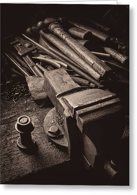 Train Driver's Tools Greeting Card by Dave Bowman