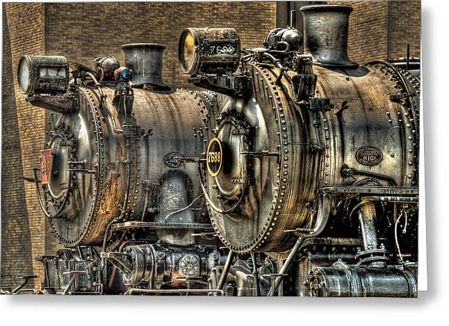 Train - Engine - Brothers Forever Greeting Card by Mike Savad