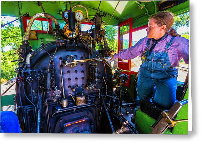 Train Engineer Greeting Card by Garry Gay