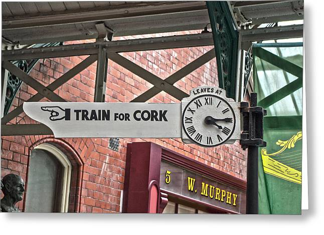 Train For Cork Greeting Card by Sharon Popek