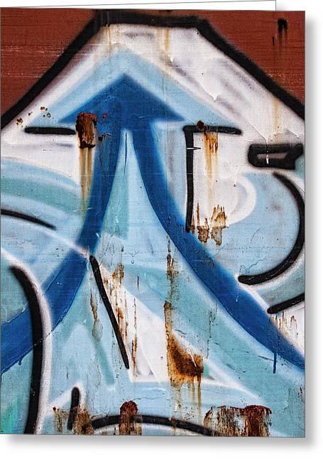 Train Graffiti Double Arrow Greeting Card