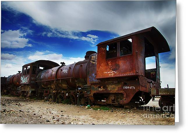 Train Graveyard Uyuni Bolivia 15 Greeting Card