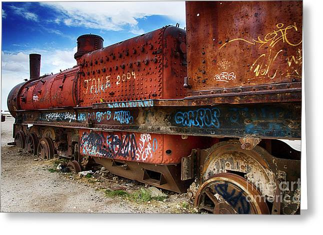 Train Graveyard Uyuni Bolivia 18 Greeting Card
