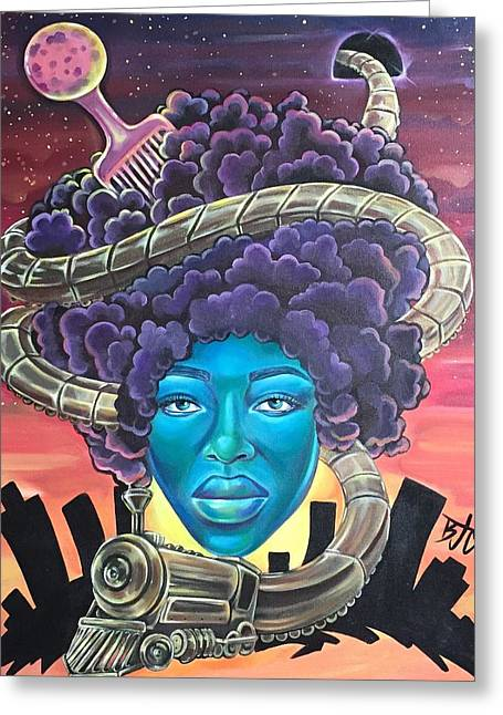 Afrocentric greeting cards fine art america train of thought greeting card m4hsunfo