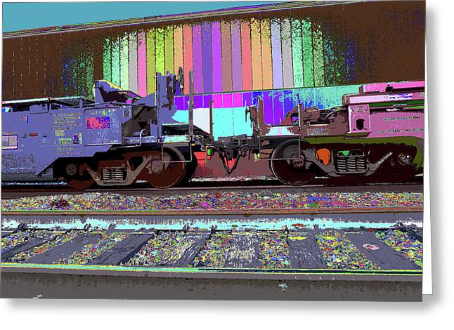 Train Parked Greeting Card