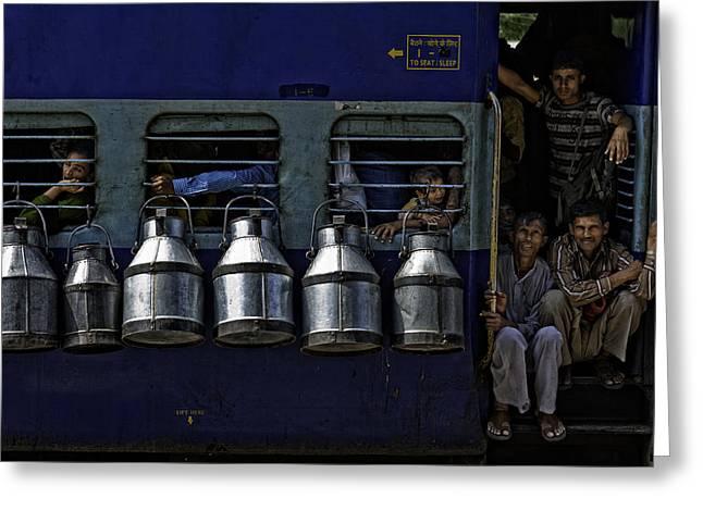Train Greeting Card by Prateek Dubey