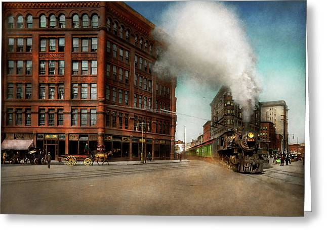 Train - Respect The Train 1905 Greeting Card by Mike Savad