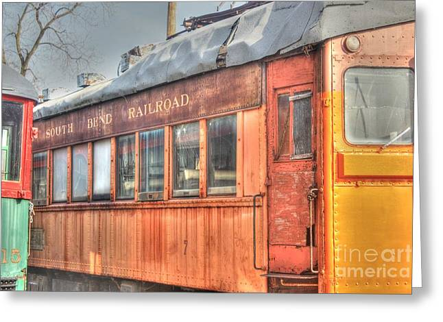 Train Series 5 Greeting Card by David Bearden