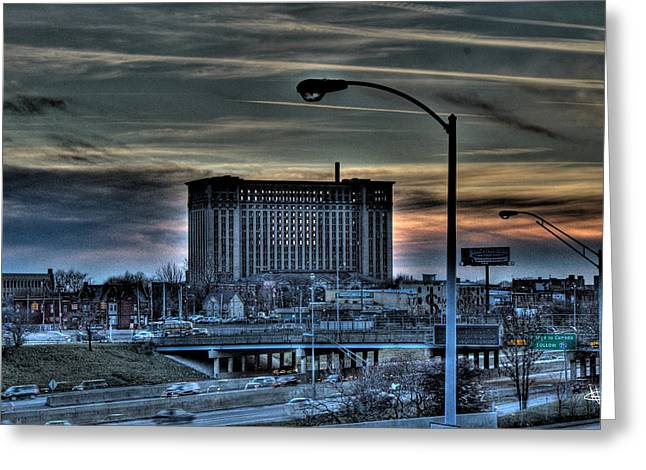 Train Station Detroit Mi Greeting Card by Nicholas  Grunas