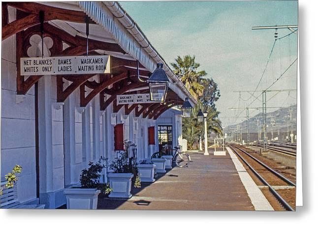 Train Station In Matjiesfontein Greeting Card by Morris Finkelstein